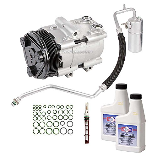New AC Compressor & Clutch With Complete A/C Repair Kit For Ford Fseries Trucks - BuyAutoParts 60-80245RK New ()