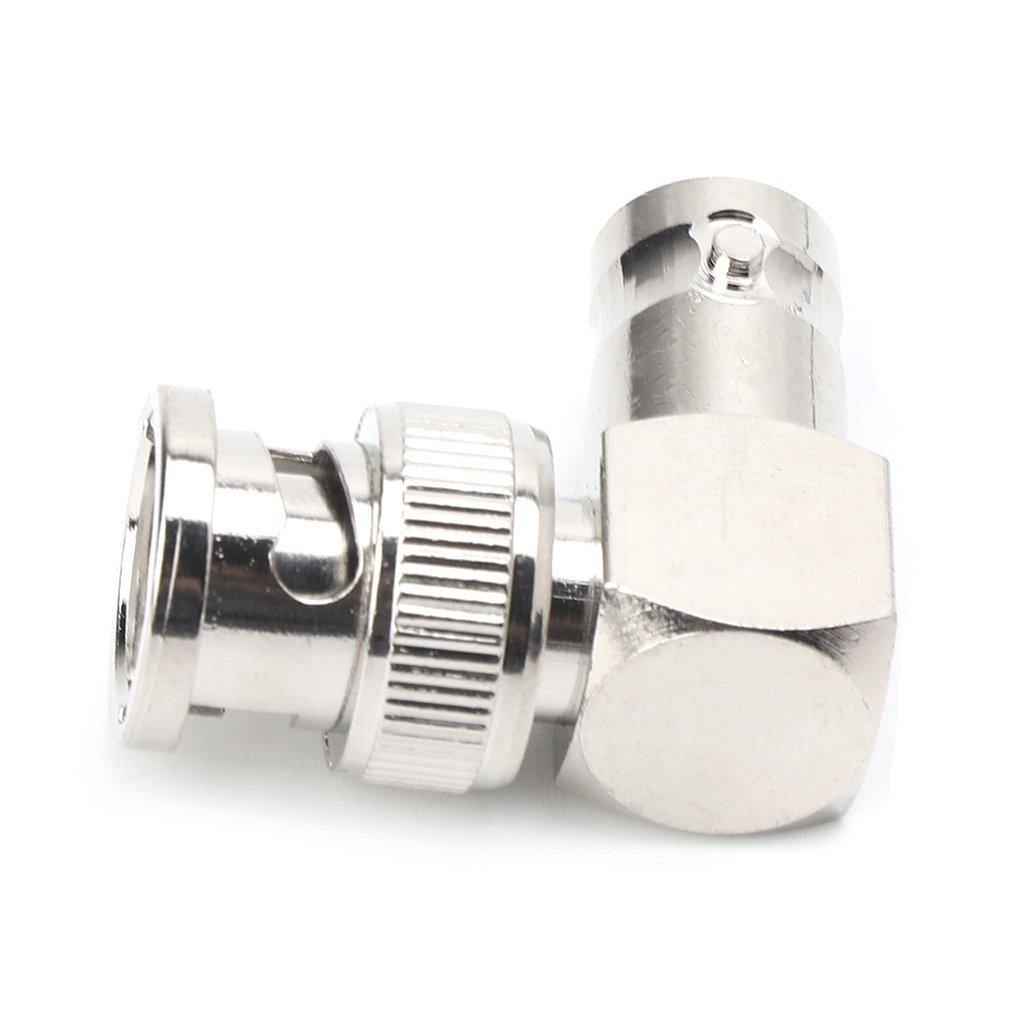 JENOR Adaptateur De C/âble Coaxial RF En Forme De L BNC M/âle /à Angle Droit Au Connecteur Femelle