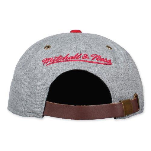 béisbol amp; Hombre única Ness Rojo Mitchell de Gris Talla Gris para Gorra dIg4wqY