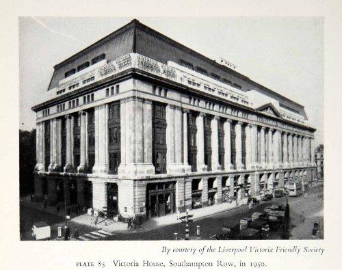 1951 Print Liverpool Victoria Friendly Society House Southampton Row London Art - Original Halftone - Row The London