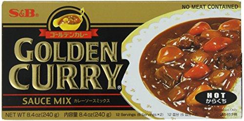 S&B Golden Curry Sauce Mix, Hot, -