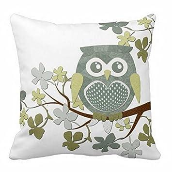 Amazon.com: Throw funda de almohada clásico búho Dibujo ...