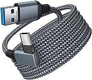 Xcbbncler Para Oculus Quest 2 tipo-C Link USB- C Steam VR cabo de dados 5 m/16 pés cabo de carregamento rápido