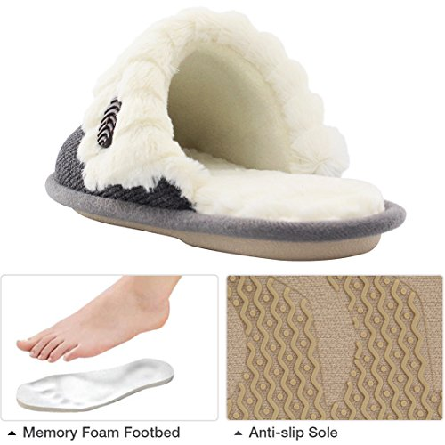 HomeTop Cute Knitted Indoor House Slippers