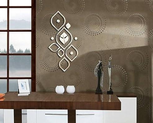 Moderne Wanduhr Design Wandtattoo Dekoration Uhren NEU Spiegel WOW