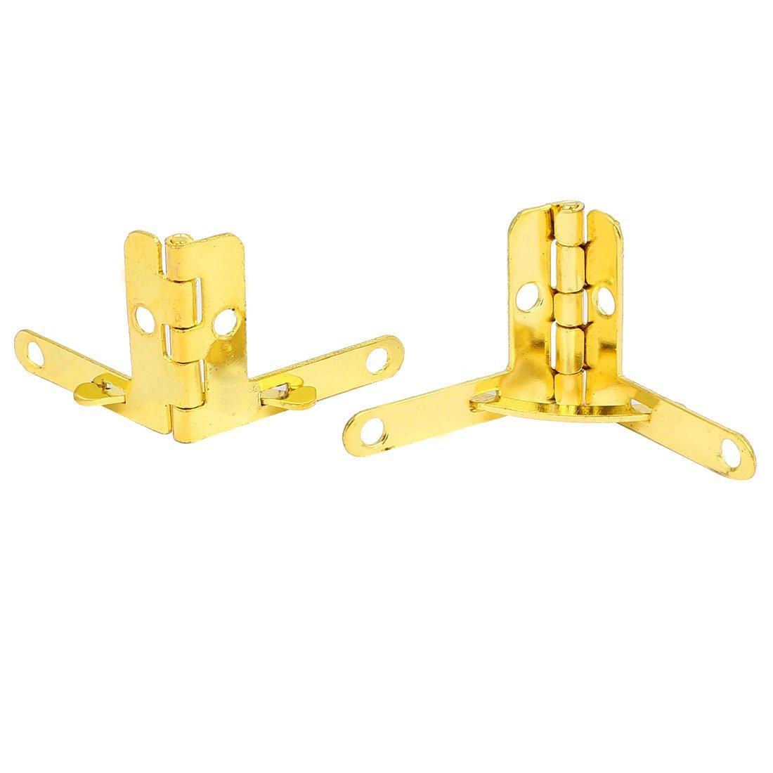 eDealMax vino de la caja de joyería caja de madera 15pcs tono 28.5mmx22mm metal Cuadrante Bisagra oro - - Amazon.com