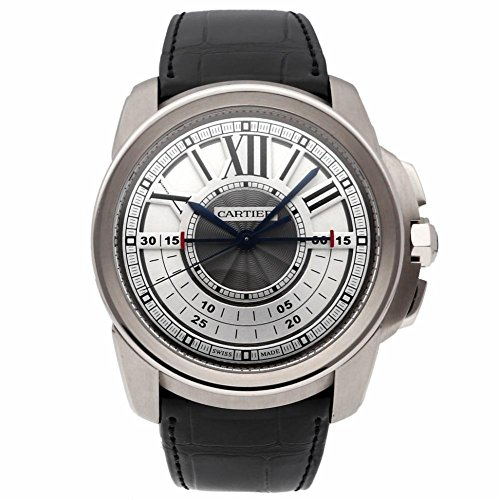 Cartier Calibre de Cartier mechanical-hand-wind mens Watch W7100005 (Certified Pre-owned)