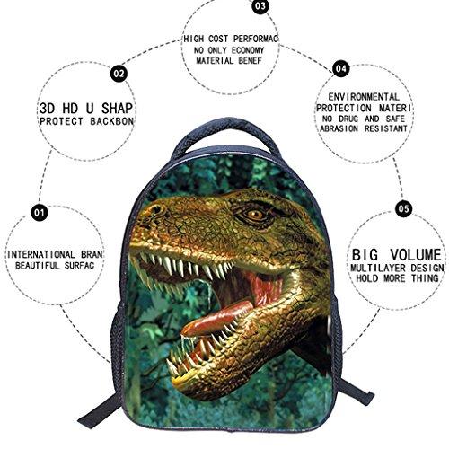 Borse Zainetti Ragazza Ragazzo 3d Tracolla Dinosauro Sacchetto A Unisex Scuola Nylon 6 Zaini Multicolore Per Dogeek Di Zaino Stampa Bambini qUvttTw