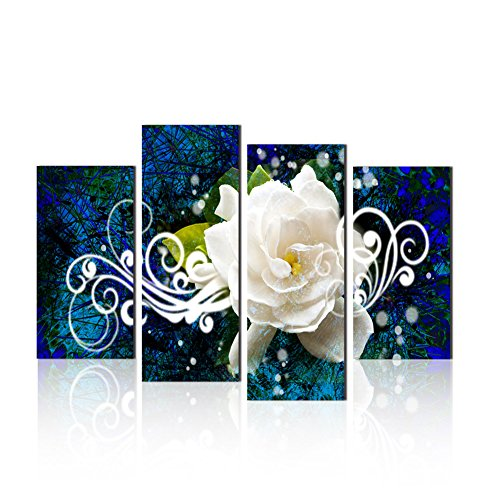 Cenblue Paintings Flower Picture Canvas Oil Painting Wall Art Prints Home and Office Decor (8x16inchx2pcs, 8x20inchx2pcs)