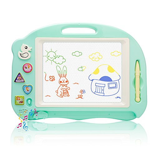 Magnetic Color Drawing Board with Songs&Stories&Sounds of Animal&Vehicle Erasable Travel Doodle Pro Sketch Pad For Kids Toys by Little-Kinds