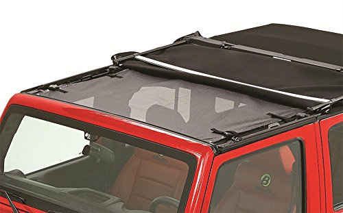 Bestop 52401-11 Mesh Fabric Safari-Style Sun Bikini Top (Jeep Wrangler 2014 Bikini Top)