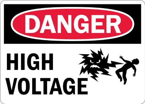 Smartsign Adhesive Vinyl Label Legend Danger High Voltage With