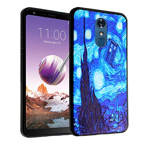 LG Stylo 4 Case Tardis Starry Night,DURARMOR FlexArmor Rubber Flexible Bumper Shockproof Ultra Slim TPU Case Drop Protection Cover for LG Stylo4 Stylo 4- Dr. Who Tardis Starry Night