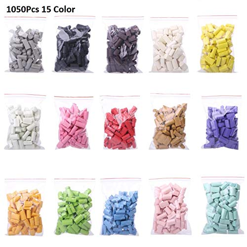 (1050PCS Slime Mud Filler Clay Decoration Craft Sponge Strip Foam Beads Kids Toys Christmas Gifts Slime Accessories 15 Color (16))