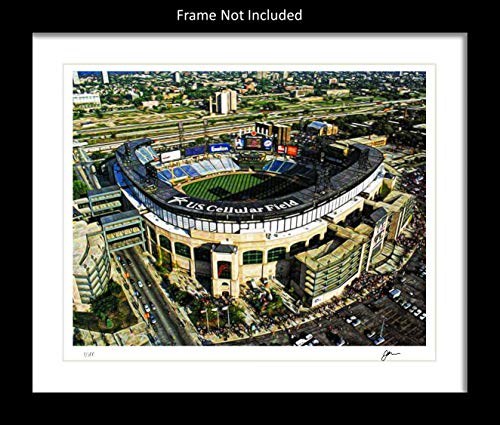 Guaranteed Rate Field Wall Decor Art Print. Home Painting Memorabilia. Gift Idea For Any Chicago White Sox Fan Men Women Father's Day Birthday Bedroom Home Bathroom Man Cave. 8x10. Frame ()