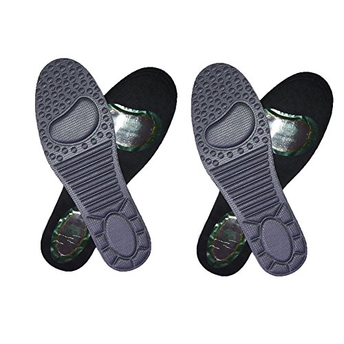 - 2 Pair Magnetic Therapy Shoe Insoles Magnet Foot Inserts Massage Shoe Pads for Mens and Womens