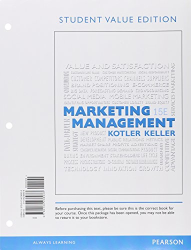 Marketing Management, Student Value Edition Plus MyLab Marketing with Pearson eText - Access Card Package (15th Edition)