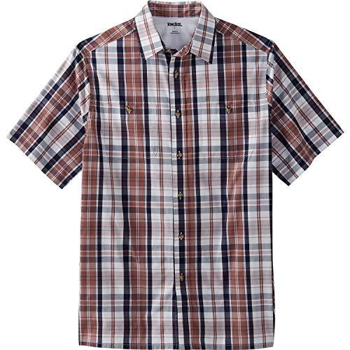 - KingSize Men's Big & Tall Short-Sleeve Plaid Sport Shirt, Dusty Pink Plaid Big-5XL