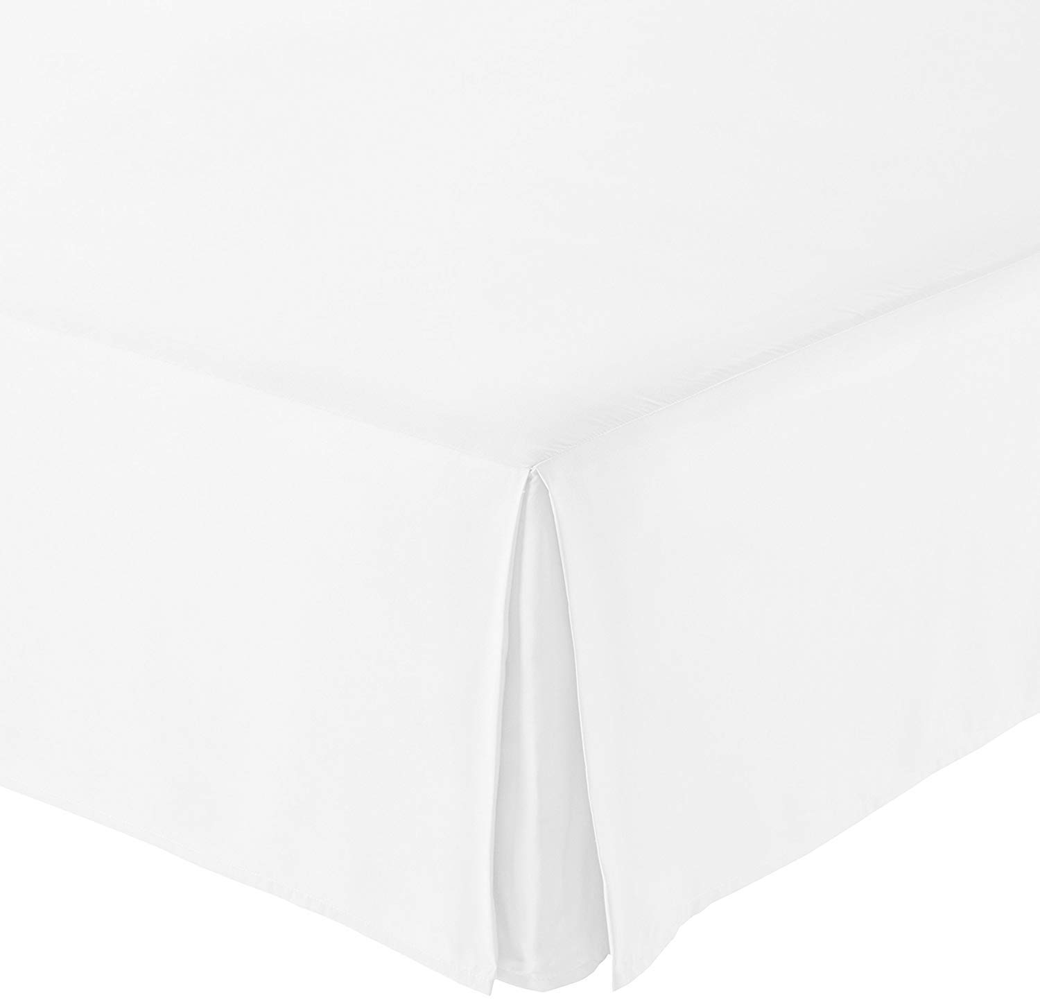 Infiniti Collection Authentic Heavy Egyptian Cotton Bed Skirt Queen Size Hotel Quality, Iron Easy Pleated Split Cornor Bed Skirt with 16'' Inch Drop Length (Solid, White)