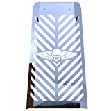 Combat Skull Polished Stainless Radiator Grille Trim Guard fits: 2010-2016 Honda Fury VT1300 - Ferreus Industries - GRL-100-07-Chrome