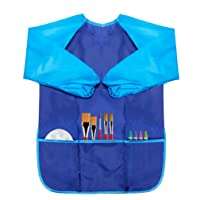 CUBACO 1 Pack Apron for Kids Toddler Art Smock Kids Painting Apron