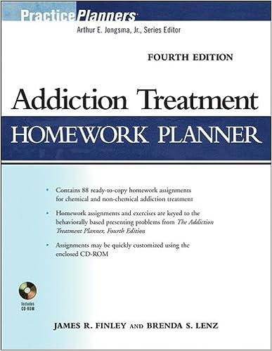 Amazon.com: Addiction Treatment Homework Planner (9780470402740 ...