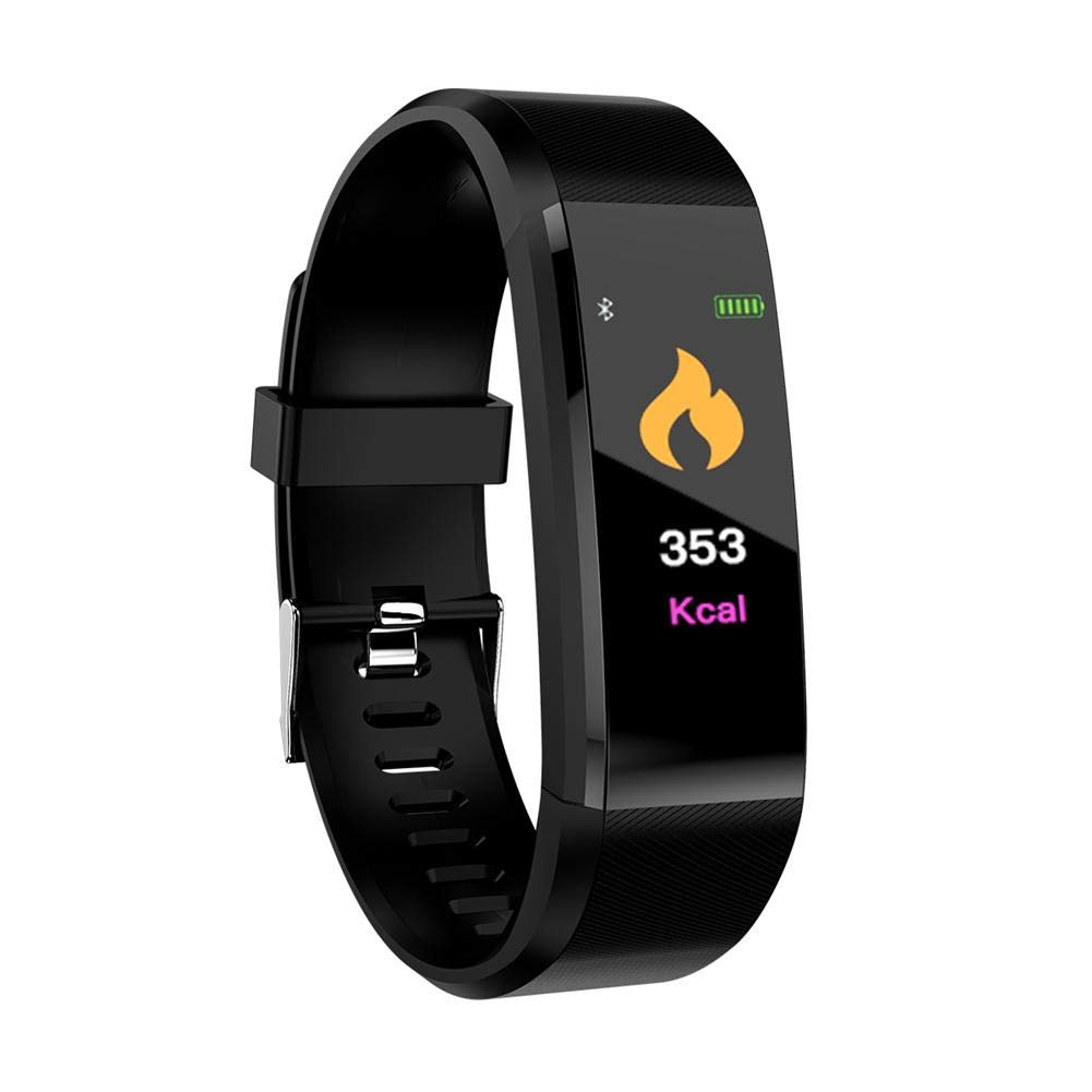 Sunneey Reloj Inteligente Fitness Rastreador Inteligente con Pantalla Color Impermeable con Monitor de Ritmo cardiaco y de tensión Arterial GPS Tracker ...