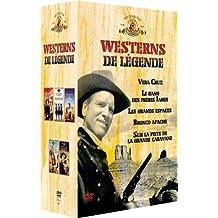 Coffret Westerns de légende 5 DVD : Vera Cruz / Le Gang des frères James / Les Grands espaces / Bronco Apache / Sur la piste de la grande caravane
