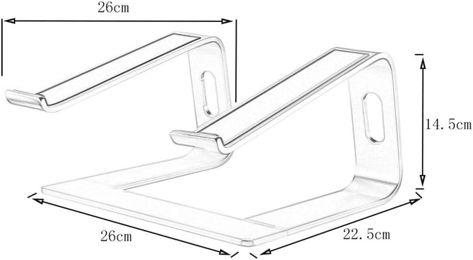 Color : Black Ace xiangyv Laptop Stand 26cmX22cmX14.5cm Black//Silver Adjustable Foldable Ergonomic Desktop Laptop Cooling Stand for 12~15.6 Laptops