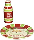 """Cookies For Santa"" Christmas Gift Set with Plate and Milk Bottle"