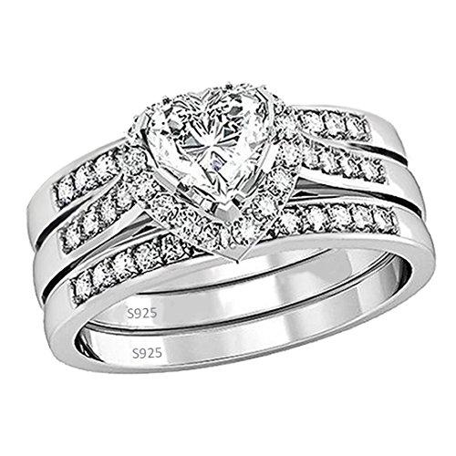 heart wedding ring set - 8