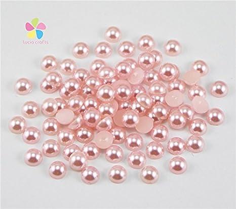 DIY 400pcs 4mm Mix Colors Half Round Pearl Bead Flat Back Scrapbook For Craf