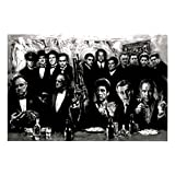 Godfather Goodfellas Scarface Sopranos Make Way for the Bad Guys Movie Poster Print Giant Poster Print, 54x39