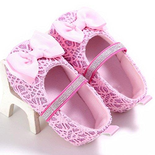 Tefamore Zapatos bebe de bajos de deporte de antideslizante de solo suave de moda invierno otoño Rosa