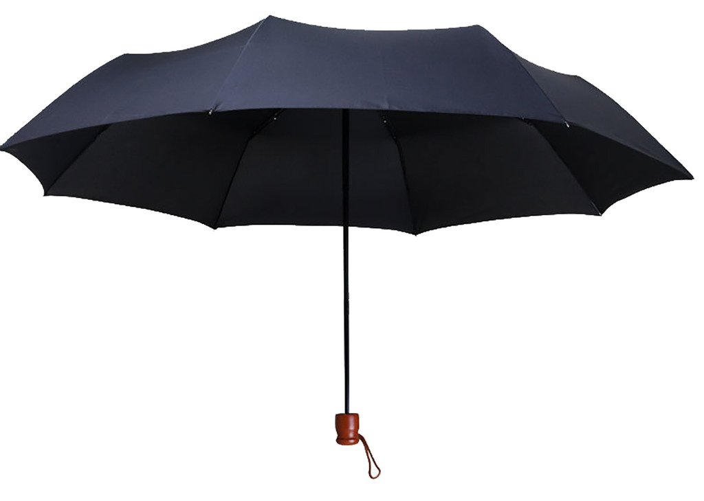 Generic Easy-carrying Travel Umbrella Size 55inch Color Black