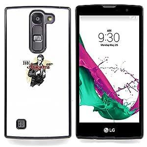 "Qstar Arte & diseño plástico duro Fundas Cover Cubre Hard Case Cover para LG G4c Curve H522Y ( G4 MINI , NOT FOR LG G4 ) (Sea impresionante - Gracioso - Barney Barny"")"