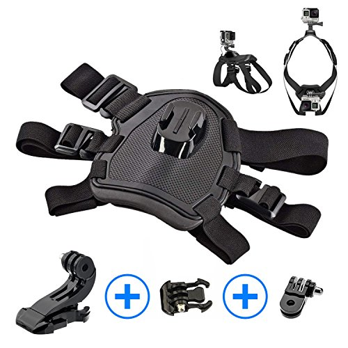 Sports Action Camera Adjustable Dog Harness with Chest and Back Mounts For GoPro HERO 6, 5, 4 Session 4, 3, 2, 1 | Dogs POV, Point Of View | Includes BONUS 90° Mount {-Crinco-} by Crinco