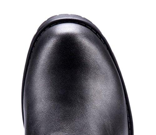 cm Stiefeletten Schnalle Stiefel 5 Grau Damen Blockabsatz Ziersteine Nieten Schuhe Schuhtempel24 Boots nw7BqIvf