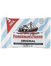Fisherman's Friend Original, Caramelo Comprimido Sin Azúcar - 3 unidades de 20 gr. (Total 60 gr.)