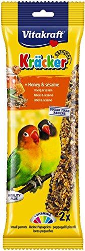 Vitakraft Kracker tratar de incienso para pájaros con miel y Barrio Sésamo, 2unidades, caso de 5 Pets Choice