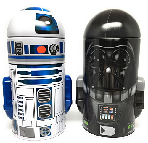 Star Wars Darth Vader And R2 D2 Steel Coin Banks  Total Of 2 Banks