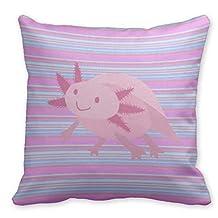 "Plusone Axolotls Cartoons Throw Pillow Case 18"" x 18"""
