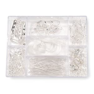 Darice 1972-08BS 178-Piece Jewelry Finding Starter Kit in Clear Container