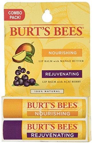 (Burt's Bees Lip Balm Twin Pack Mango Butter Acai Berry - 0.3 oz)