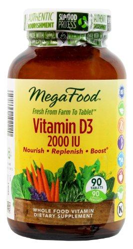 MegaFood vitamine D-3 2000 UI comprimés, 90 comte (Premium Packaging)