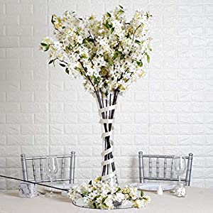"""10 40"""" Tall White Silk Cherry Blossom Branches Wedding Flowers Party Bouquets 60"""
