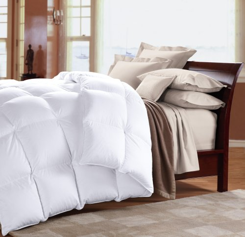 Cuddledown 1000 Fill Power Batiste Down Comforter, Queen, Summer, White