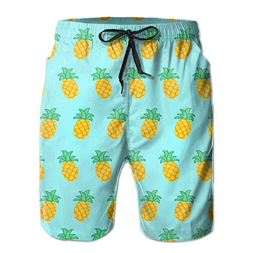 Pineapples+Men%27s+Quick+Dry+Beach+Board+Shorts+Summer+Swim+Trunks+For+Father%27S+Day+For+Boy+Swimming