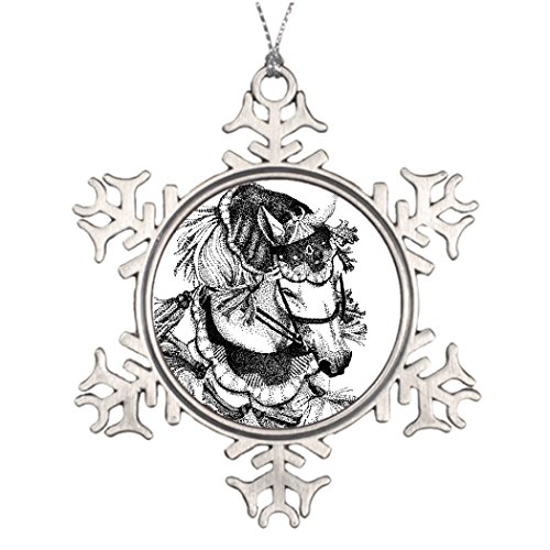 [Personalised Christmas Tree Decoration Arabian in Costume Snowflake Ornaments Online] (Horse For Sale Costume)