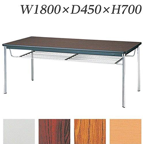 生興 テーブル KTD型会議用テーブル W1800×D450×H700 4本脚タイプ 棚付 KTD-1845I チーク B015XOJTZY チーク チーク